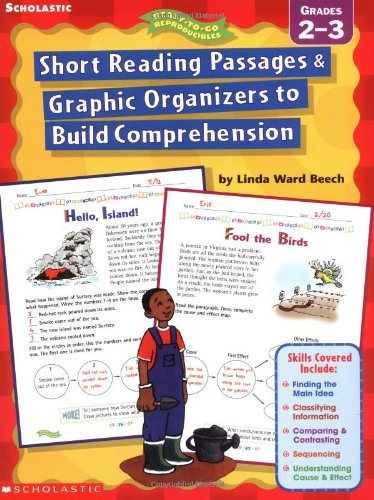 Short Reading Passages & Graphic Organizers to Build Comprehension, Grades 2-3
