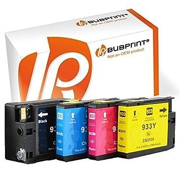Bubprint 4X Cartuchos de Impresora Compatible con HP 932 ...