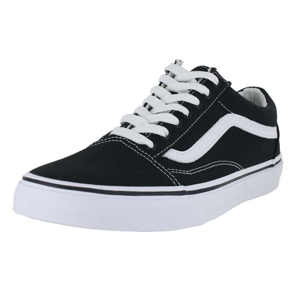 c6aa50a862 Galleon - Vans Unisex Old Skool Black True White Skate Shoe 10.5 Men US   12  Women US