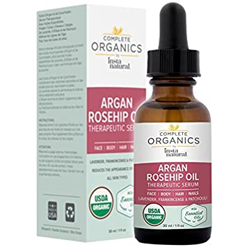 Organic deep rosehip oil facial moisturizers