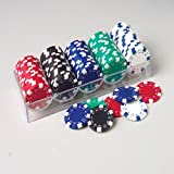 DELUXE POKER CHIP SET/100 PCS, SOLD BY 5 SETS