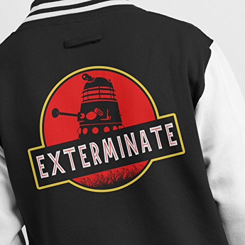 Exterminate Dr Jacket Darlek Park Men's Jurassic Varsity white Who Black HPcwR