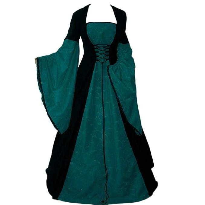 GladiolusA Vestido Largo Disfraz De Cuello En V Medieval ...