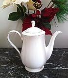 Lenox Hannah Platinum Bone China Coffeepot with Lid