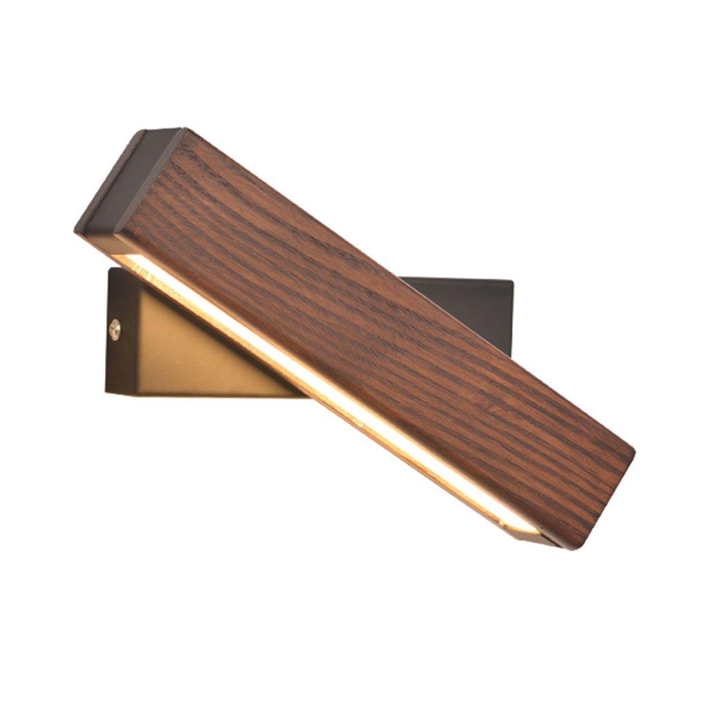 fixé au mur Applique murale européenne Lampe de chevet LED Lampe de lecture Moderne Creative Rotating Light LED Lecture Lampe de mur en bois massif