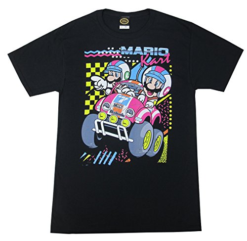 (Fifth Sun Men's Nintendo Mario Kart Dart Rally T-Shirt (Black,)