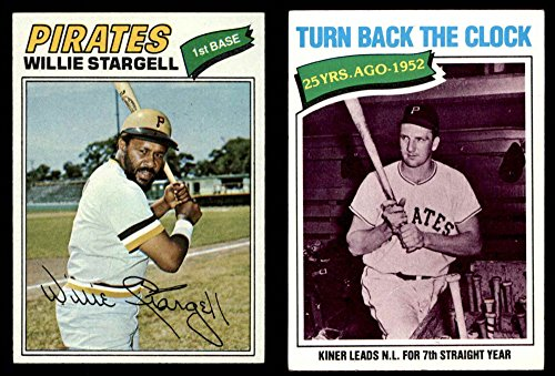 1977 Topps Pittsburgh Pirates Team Set Pittsburgh Pirates (Baseball Set) Dean's Cards 5.5 - EX+ Pirates