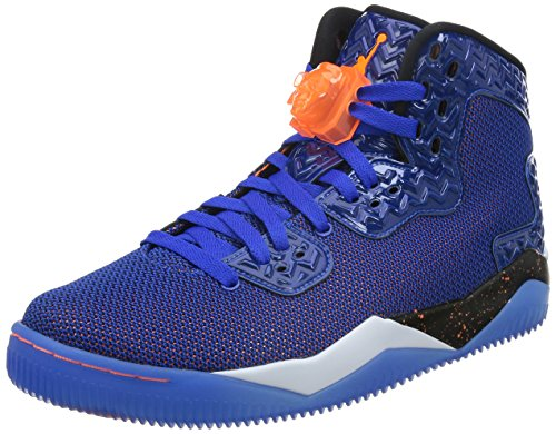 Jordan Nike Men's Air Spike Forty PE Game Royal/Ttl Orng/White/Blk Basketball Shoe 9.5 Men US by Jordan