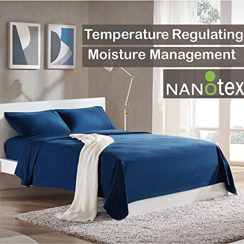SLEEP ZONE Bed Sheet Sets Temperature Regulation Soft Wrinkle Free
