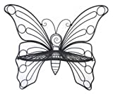 Hi-Line Gift Ltd Garden Décor Butterfly Chair, 45 by 24 by 42-Inch, Antique Black