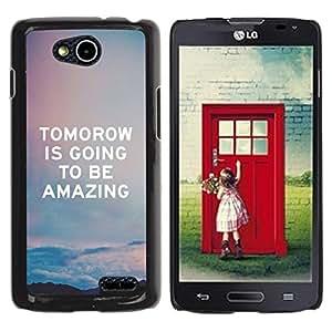 For LG OPTIMUS L90 / D415 Case , Quote Sky Amazing Text - Diseño Patrón Teléfono Caso Cubierta Case Bumper Duro Protección Case Cover Funda