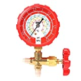 Simply Silver - New 1/4'' Thread High Pressure Single Gauge Brass Valve for R404 R410 Air Conditioner