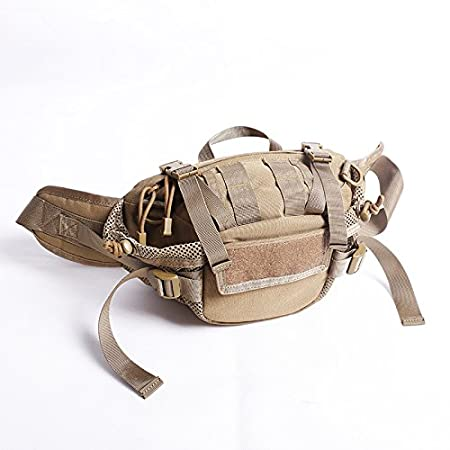 Táctica militar Viajes Deportes Ajustable 3maneras utilidad correa de hombro bolsa pecho Mochila bolsa cinturón riñonera bolsa Pack de empuje (5colores) para acampar al aire libre senderismo trekking, DE WorldShopping4U