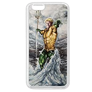 """New Zeng Aquaman Superheros Custom Phone Case for iPhone 6 4.7"""", DC comics Aquaman Customized iPhone 6 4.7"""" Case, Only Fit for Apple iPhone 6 4.7"""" (White Soft Rubber)"""
