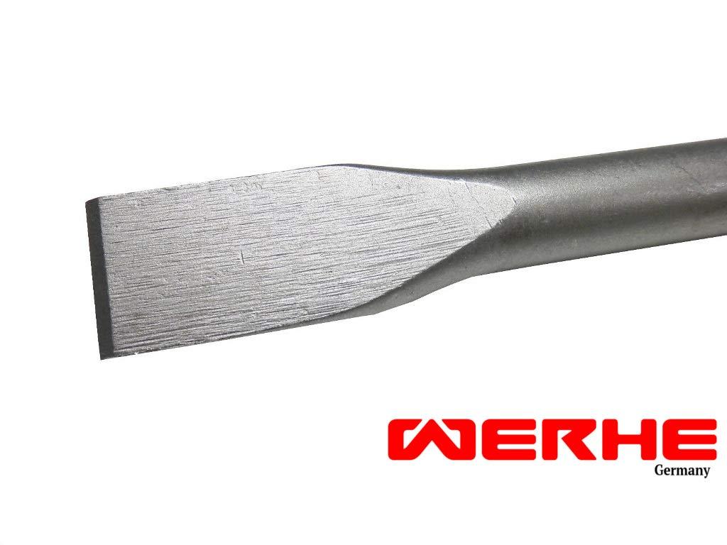 WERHE Profi SDS Cincel plano cincel ancho Cincel cincel ancho plano de 25 x 400 mm