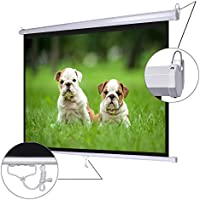 Koval Inc. 72 Diagonal 4:3 Manual Pull Down Wall Mount Matte Projector Screen (72 4:3)