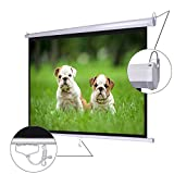 Koval Inc. 72'' Diagonal 4:3 Manual Pull Down Wall Mount Matte Projector Screen (72'' 4:3)