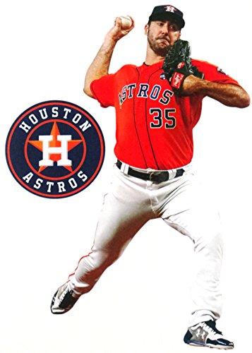 FATHEAD Justin Verlander Mini Houston Astros Logo Official MLB Vinyl Wall Graphics 7'' INCH by FATHEAD