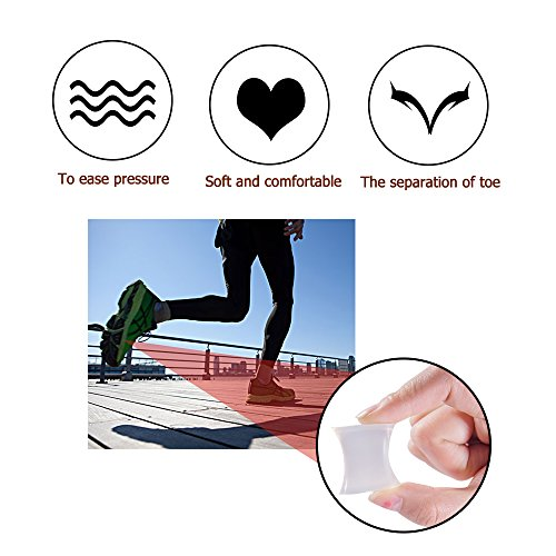 Welnove Gel Toe Spacers Toe Separators for Bunion,Overlapping Toes-10 PCS by Welnove (Image #6)