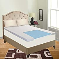 Spring Solution Mattress, Gel Infused 2-Inch High Density Foam Mattress Topper with Removable Cover , King