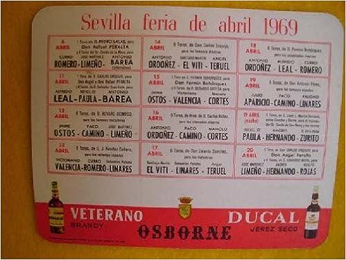 Tarjeta publicidad Cartel Taurino SEVILLA FERIA DE ABRIL ...