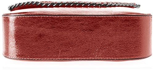 w Rosso X 24x20x8 Chicca H Donna Spalla Cm Borsa Borse 8810 L bordo A npwpT87q