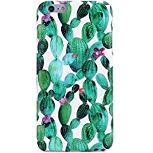 iPhone 6 Plus Case,iPhone 6s Plus Case,Cactus in Flowers, VIVIBIN Shock Absorption IMD Soft TPU Gel Case for iPhone 6/ 6s Plus 5.5""