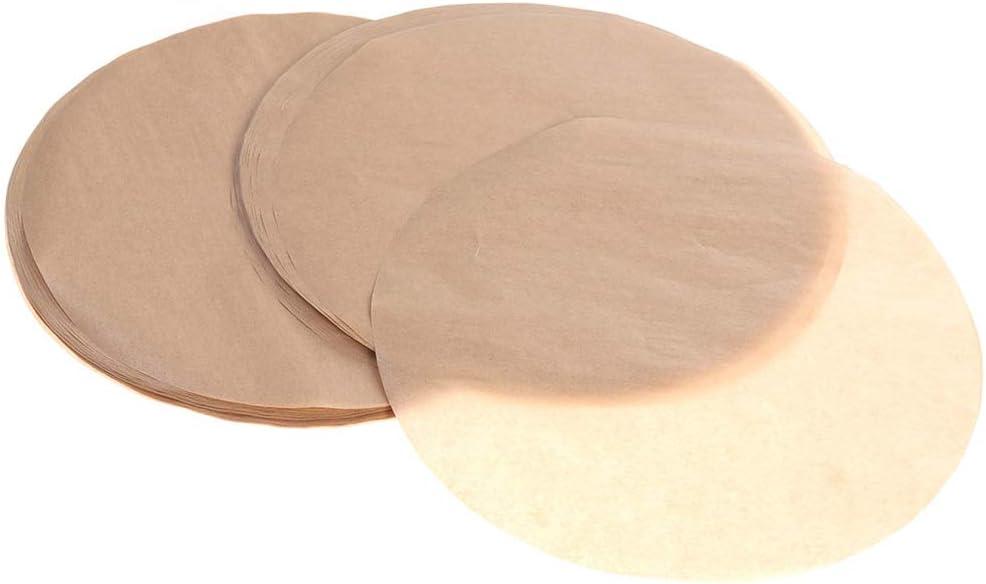 ManYee 200 Pcs Parchment Paper Rounds Non-Stick 6 Inch Parchment Paper Circles Precut Baking Sheets Paper Baking Parchment Rounds for Round Cake Pan Air Fryer Liners Baking Unbleached