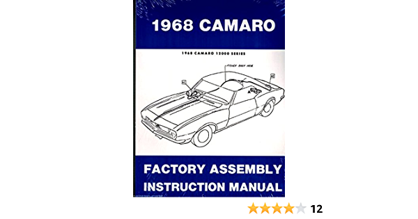 1968 Camaro Rs Ss Z28 Factory Assembly Manual Reprint Gm Chevy Chevrolet Camaro Gm Chevy Chevrolet Camaro Gm Chevy Chevrolet Camaro Gm Chevy Chevrolet Camaro Gm Chevy Chevrolet Camaro Gm Chevy