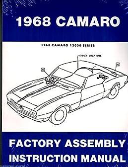 1968 camaro rs ss z28 factory assembly manual reprint chevrolet rh amazon com Custom 69 Camaro Convertible 69 Chevy Camaro