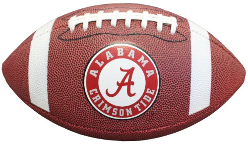 NCAA Alabama Crimson Tide Composite Football, Brown, Official Size (Official Ncaa Autograph Football)