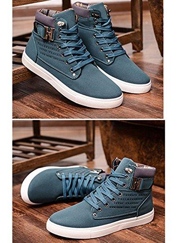 Casual Scarpe Stampa Verde da Autunno Sneaker Inglese Uomo Fibbia della Cintura Ginnastica Piatte Minetom Moda con Espadrillas Inverno TqZXtAxn