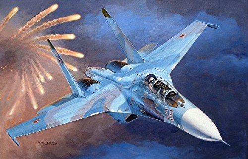 Su 27 Russian Air (Trumpeter 1/72 Sukhoi Su27UB Flanker C Russian Fighter)