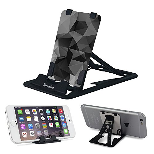 Slim-Pro Stand by Amusent-Ultra Slim Portable Phone Stand, Kickstand, Pocket Size-Foldable, Adjustable, Multi-Angle, Compatible w/iPhone, Smartphones & Tablets Offer
