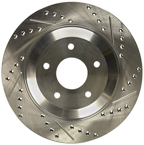 Slotted Front Rotor Stoptech (StopTech 227.62059L Select Sport Drilled and Slotted Brake Rotor; Front Left)