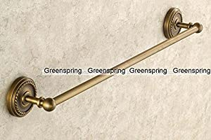 Greenspring 24 Inch Wall Mounted Single Towel Bar Antique Brass Towel Rack new