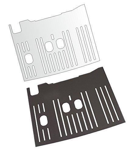 3 x Schutzfolie für DeLonghi Dinamica Plus 370.95 T & 370.95 S Abtropfblech - Tassenablage - Abstellblech schutzfolien-loew