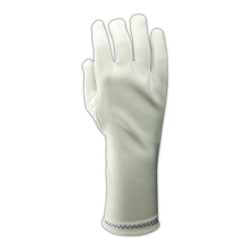 Magid Glove & Safety 5332/12 Magid Clean Master Two Piece Pattern Stretch Nylon Gloves, White, Men's (Fits Large) (Pack of 12)