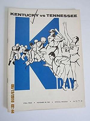 Kentucky vs Tennessee 11/20 1965 Football Program bx 3 em check mark