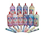 Sandy Candy Fundraiser Kit - 10 Flavor Sandy Candy Kit w/ 250 5'' Tubes - Sand Candy Art For School Fundraisers, Kids Birthday Party Activities, Games, & Party Favors