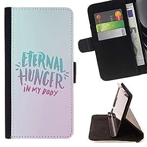 - HEALTHY LIFESTYLE ETERNITY DIET FOOD HUNGER - - Prima caja de la PU billetera de cuero con ranuras para tarjetas, efectivo desmontable correa para l Funny HouseFOR LG G2 D800