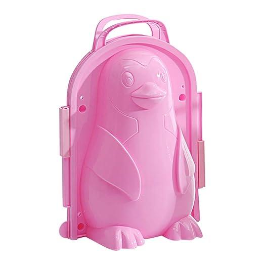 Molde para hacer bolas de nieve, diseño de pingüino rosa: Amazon ...