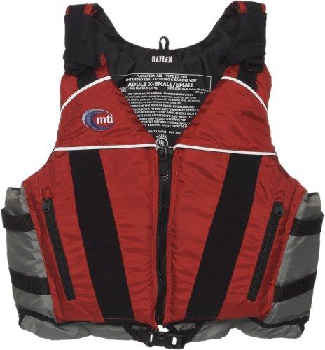 MTI Adventurewear Reflex PFD Life Jacket (Red/Gray, X-Small/Small)