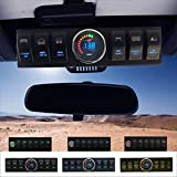 Apollointech Jeep Wrangler JK & JKU 2007-2018 Overhead 6-Switch Pod / Panel with Control and Source System Blue Back Light ( Comes with 10 Laser Switch Covers )