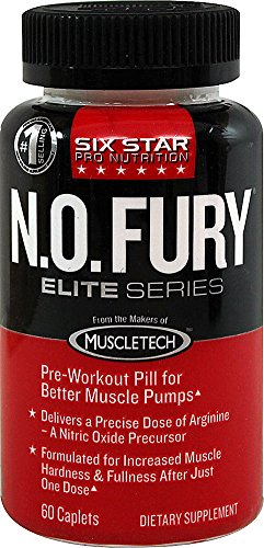 Six Star Pro Nutrition oxyde nitrique Fury, série Elite 60 Caplets