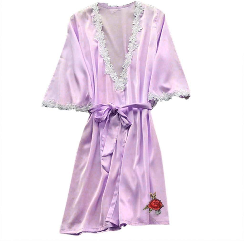 YKARITIANNA - Pijama sexy de seda satinada para mujer: Amazon.es ...
