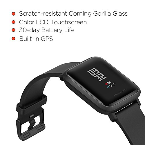 Amazfit Bip Smartwatch by Huami with All Day Heart Rate and Activity  Tracking Sleep Monitoring GPS Ultra Long Battery Life Bluetooth US Service  and