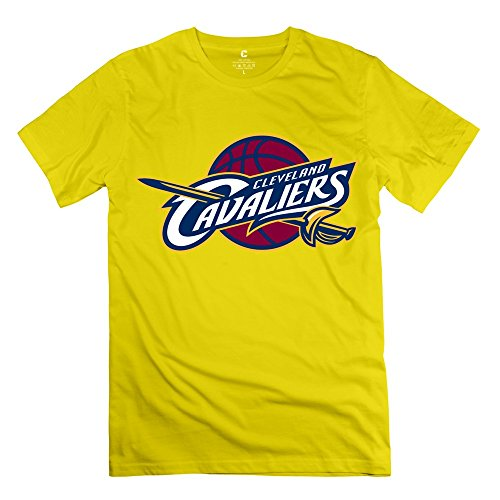 MAD Cleveland Cavaliers Logo T-shirt - Man's T Shirts Yellow Size S