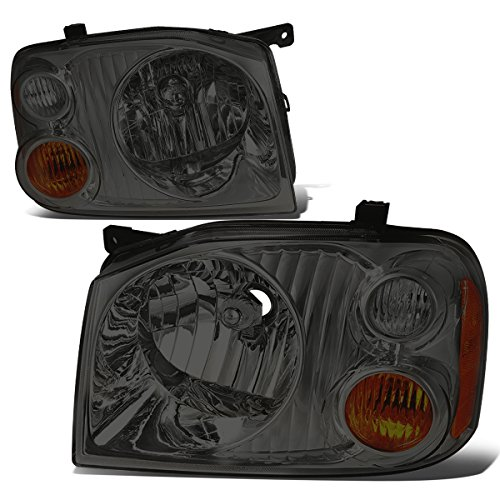For Nissan Frontier D22 Fiera Hardbody Paladin Pair Smoked Lens Amber Corner Headlight Replacement ()