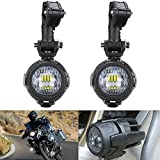 SUPAREE 2 Pcs 40W LED Auxiliary Lamp 6000K Super Bright Fog Driving Light Kits Led Lighting Bulbs DRL For Motorcycle BMW R1200GS F800GS K1600 KTM HONDA Harley Davidson (Lightx2)